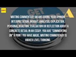 what is commentary in an essay mean  what is commentary in an essay mean