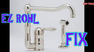 Rohl Pull Out Kitchen Faucet Rohl Faucet Soap Pump Youtube