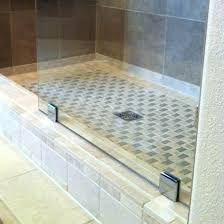 refinish fiberglass shower pan tile over installing base with walls liner tiles wall