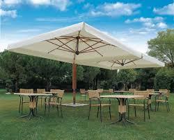 wood double cantilever parasol