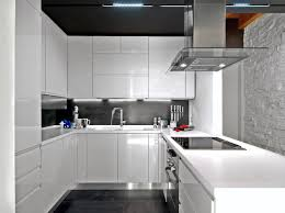 white and black kitchen design high gloss white cabinets black ceiling backsplash and