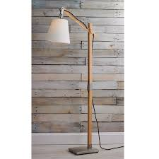 modern rustic lighting. Modern Rustic Wood Arc Floor Lamp Natural Lighting