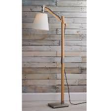 Modern Rustic Wood Arc Floor Lamp - Shades of Light