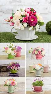 how gorgeous are these fl teacup arrangements perfect if you re planning an afternoon