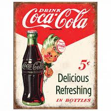 Coca-Cola Sprite Boy 5 Cents Tin Sign