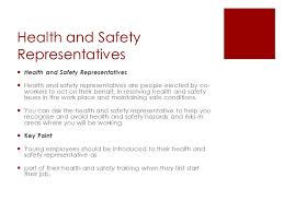 safety representitive work year 10 industry enterprise health and safety