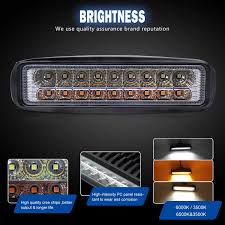 Yellow Light Bars For Trucks Led Light Bar 6 Inch Dual Color Led Pods Off Road Amber
