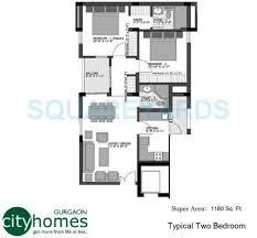 vatika city homes specification 2 bhk 1180 sq ft apartment floor plan
