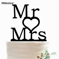 Us 272 Mr Mrs Cupcake Toppers Anniversary Cake Decor Birthday Wedding Decorations Valentines Day Name Cake Topper Picks Party Supplies In Cake