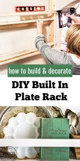 diy built in plate rack salvaged living