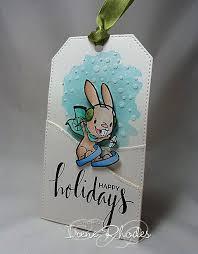 Happy Holidays Tag by Irene Rhodes. #EllenHutsonLLC  #TwelveTagsofChristmasWithaFeminineTwist | Holiday tags, Mft cards,  Inspirational cards