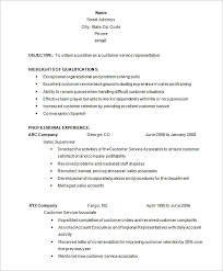 Customer Service Resume Template Free Awesome 28 Customer Service Resume Templates PDF DOC Free Premium