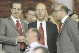 Glazers join players for victory celebrations