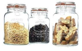 Decorative Glass Jars For Kitchen Decorative Glass Kitchen Canisters Decorative Glass Canister Sets 53