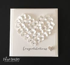 the 25 best wedding cards ideas on pinterest wedding cards Wedding Card Craft Pinterest flowers and white and sparkles sure do make up the perfect wedding recipe my card Pinterest Card Making Ideas