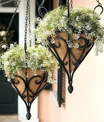 wrought iron hanging planters antique hanging planter with coco liner wrought iron planters plant stands hanging wrought iron hanging planters
