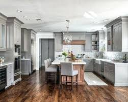 transitional kitchen ideas. Gray Kitchen Ideas Transitional Pictures Inspiration For A U Shaped Medium Tone Wood Floor 0