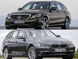 Mercedes-Benz C-Class Estate S205 vs BMW 3 Series Touring F31 ...