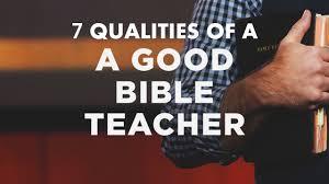 Seven Qualities Of A Good Bible Teacher John 7 14 36 Tbc090416