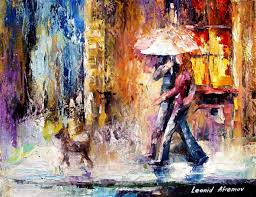 my dog palette knife contemporary art oil painting on canvas by leonid afremov size