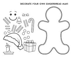 Gingerbread Man Coloring Page At Getdrawingscom Free For Personal