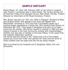 sample of obituary 25 obituary templates and samples template lab