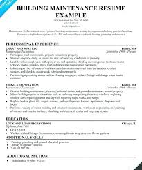 Resume Objective Section Sample Maintenance Resume Objective Sample | Dadaji.us