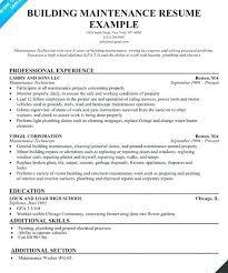 Maintenance Resume Objective Sample | Dadaji.us