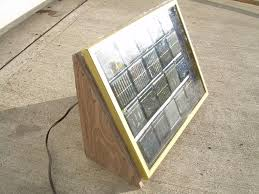 build a solar panel from a picture frame some solar garden lights