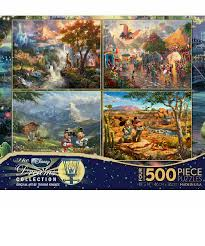 Puzzle master has a complete range of designers puzzles & more. New Ceaco 3663 01 4 1 Multi Pack Thomas Kinkade Disney Jigsaw Puzzle 500 Pieces Disney Jigsaw Puzzles Thomas Kinkade Disney Jigsaw Puzzles
