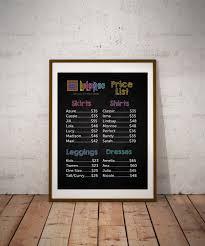 Blackboard Chart Price Pin By Jenn Ruff On Lularoe Ideas Lularoe Prices List