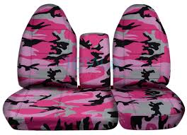 ford f 150 60 40 high back pink camo seat covers