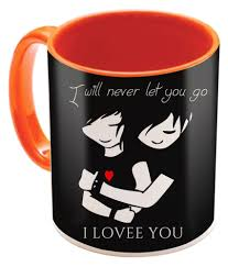 sky trends valentine s day special gifts for friend boyfriend ceramic orange mug 325 ml at best in india snapdeal