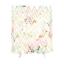 pink and gold shower curtain pastel watercolor fl chevron pattern hot target an