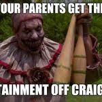 SCARY CLOWN from american horror story Meme Generator - Imgflip via Relatably.com