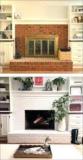 update red brick fireplace update red brick fireplace fireplace before and after painted brick ideas to update red brick fireplace