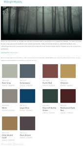 midnight mystery gothic jewel tone interior paint color palette