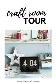 office craftroom tour.  Craftroom Craft Room  Home Office Tour  Creative Space With Ever So Britty Intended Office Craftroom Tour