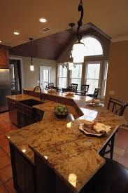 Curved Kitchen Island Designs Wrought Iron Kitchen Island Design With Sink Mixed White Wall