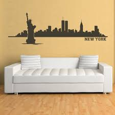 new york wall sticker city skyline wall decal living room bedroom home decor