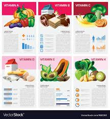 Health And Medical Vitamin Chart Diagram