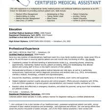 Medical Assistant Resume Template Free 60 Images Examples