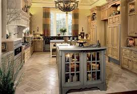 Stone Kitchen Floors Stone Kitchen Flooring Rustic Style Dark Brown Cabinets And Island