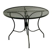 wrought iron mesh patio furniture house black in round dining table the home depot