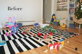 an ikea custom train and activity table with tons of storage this is such