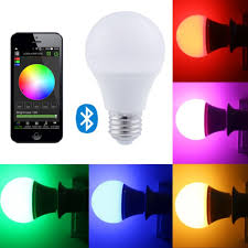 smartphone controlled lighting. Bluetooth 7.5W Multi Colored Smart LED Light Bulb; Smartphone Controlled, Dimmable Works With IPhone, Android Phone And Tablet-in Bulbs \u0026 Tubes From Controlled Lighting