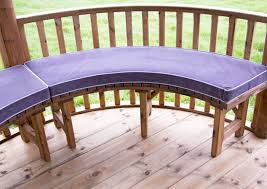 luxury cushion set for curved benches