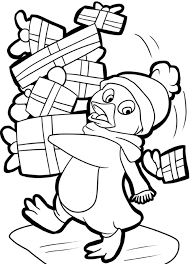 Small Picture Penguin And Presents Free Coloring Pages For Christmas Christmas