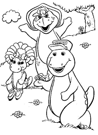 Small Picture Coloring Page Barney Coloring Pages 18734 Bestofcoloringcom