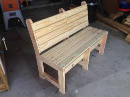wood bench with back